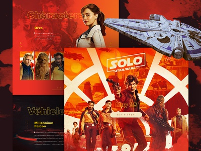 Solo: A Star Wars Story Website solo a star wars story han solo solo stars wars web design