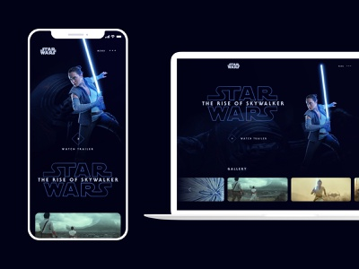 Star Wars: The Rise of Skywalker - Trailer Landing Page mobile design web design star wars