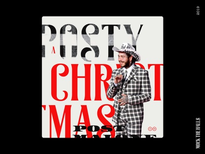 A Posty Christmas (Mock the Halls Challenge) ui holidays christmas design wreck the halls designzillas album cover post malone mock the halls 2019 mockthehalls2019 mock the halls mockthehalls