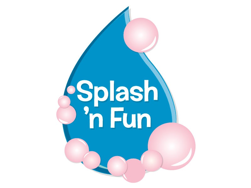Splash 'n Fun illustration vector logo