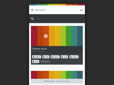Colus - Experimental app ui ux interface color palettes helper app