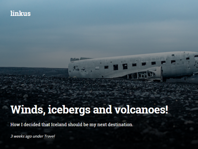 Personal blog featured post blog linkus iceland typography post featured