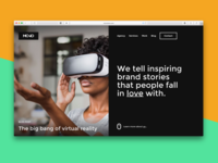 Monotwo creative agency homepage