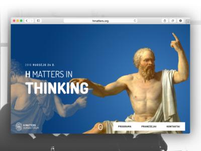 Hmatters Website onepage landing conference linkus monotwo humanities hmatters web
