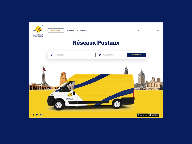Tunisian Post Website Redesign