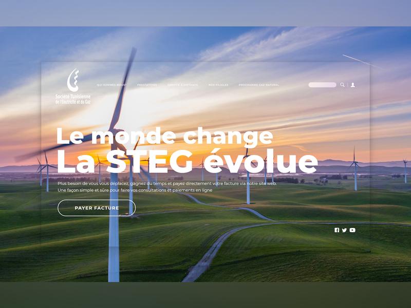 STEG Website Redesign redesign concept uxui tunisia design website interface ux ui