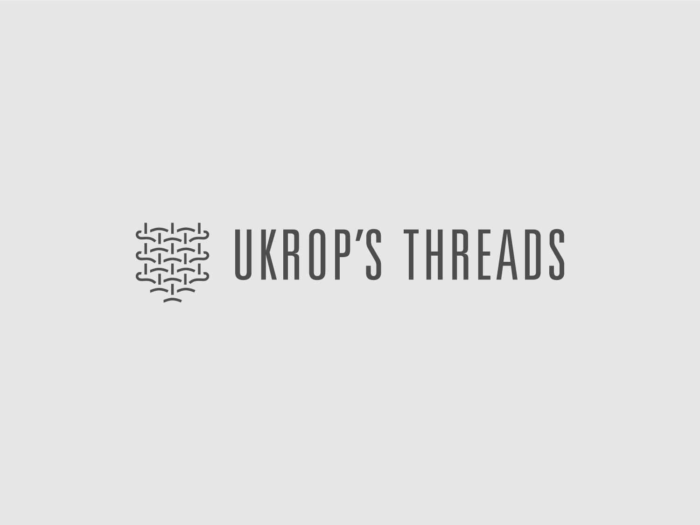 Ukrop's Threads Concept uniform apparel woven weave thread illustration logo mark design identity branding