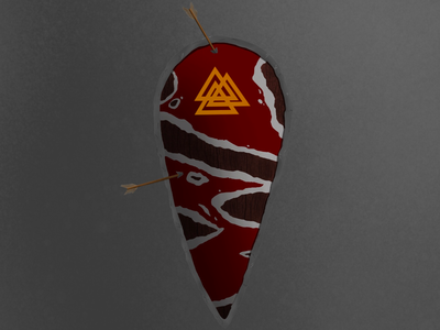 kite shield shield medieval viking color concept art digital