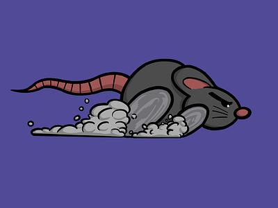 Runaway animation gif race run rat color digital procreate