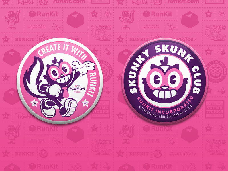 Skunky Badges