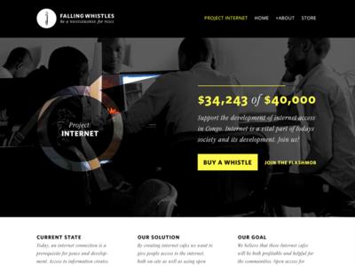 Falling Whistles campaign concept web website mockup design ux ui ngo charity hyper island