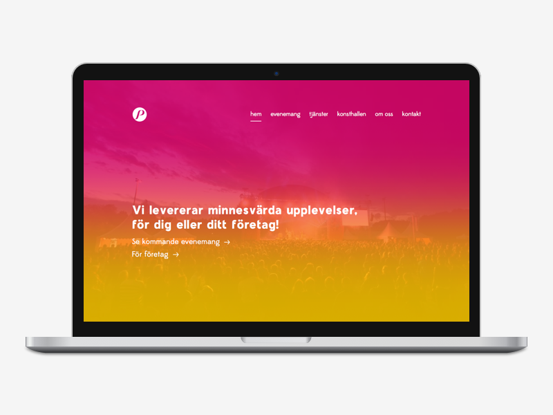 Website redesign web website mockup design ux ui redesign branding gradient hyper island