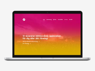 Website redesign web website mockup design ux ui redesign branding gradient hyper island
