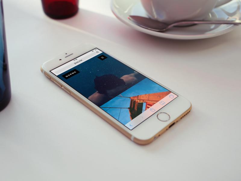 Norma web design theme responsive mobile koken minimal
