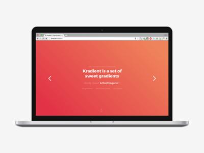 Kradient gradient web graphic ui design color tone flat modern ios 8 7