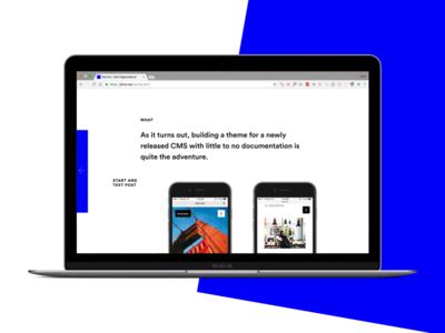 Folio personal simple minimal design web website portfolio