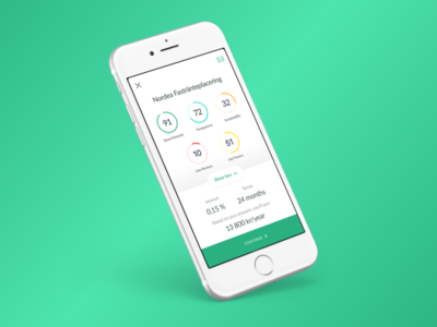 Savings account info ui ios scoring account savings fintech