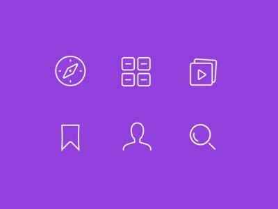 Icons navigation glyph symbol simple minimal art line icon