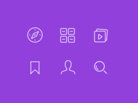 Icons navigation glyph symbol simple minimal art line icon