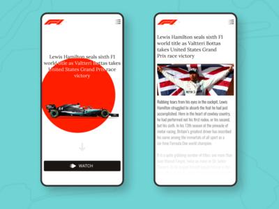 Mobile F1 mobile app design mobile design mobile app mobile ui mobile app ui web ux typography minimalism minimal design