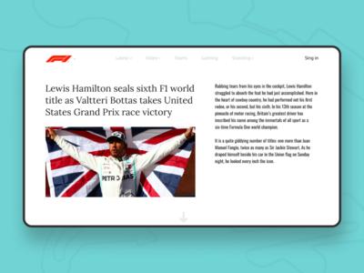F1 Information block web ux ui typography mobile minimalism minimal design