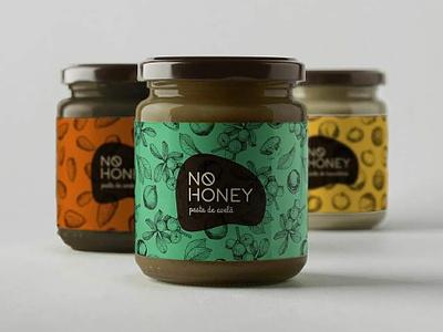 No Honey Label Design jar package logo