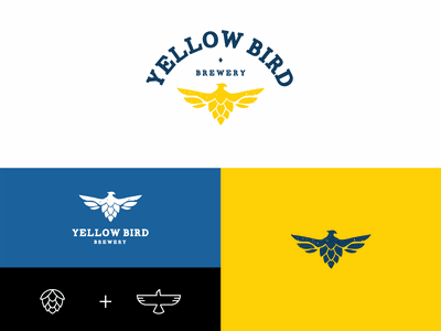 Yellow Bird Brewery branding beer brewery logo design logotype brand logo