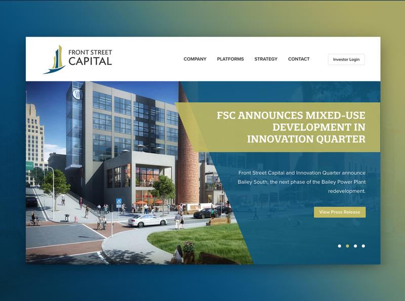 Private Equity Real Estate Platform Website gradient strategy design website real estate