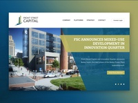 Private Equity Real Estate Platform Website gradient strategy design website real estate