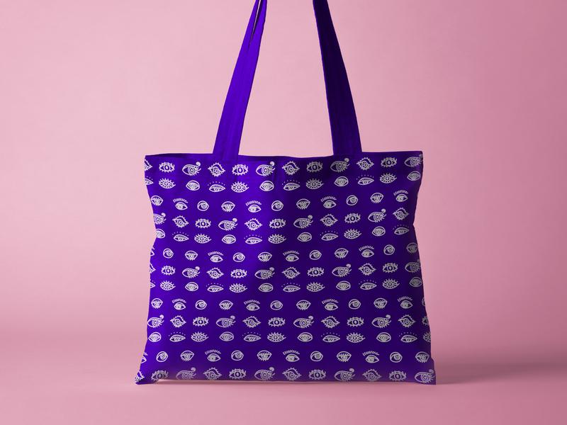 Banat Alyoum Bag bag design bold colors illustrations design eyes illustration design illustration art illustration graphicdesign