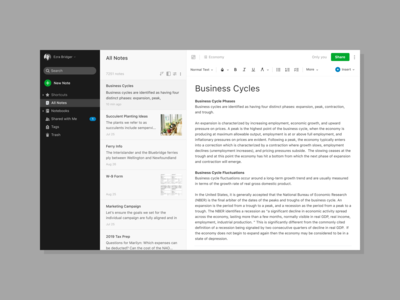 Search and Filtering for Evernote Web