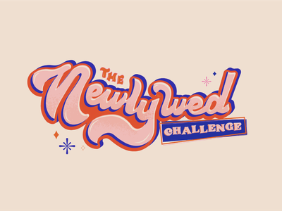 Newlywed Challenge Logo logo type design typography design typographyart typography branding concept brand identity logo design branding design illustration