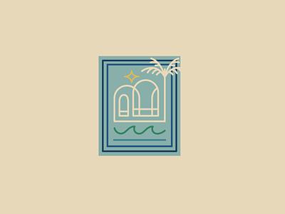 Passive Income Dentist Emblem 2 palm tree island logo dentist branding design influencer marketing influencer logo branding and identity brand identity logo design vector branding design illustration