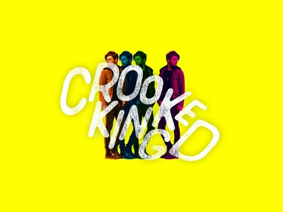 Crooked King photography social media music typography logo design branding design illustration