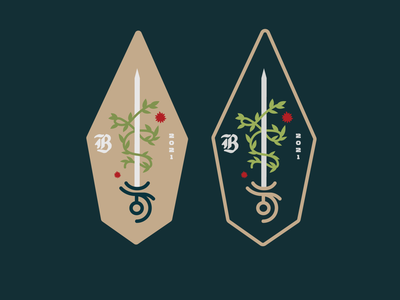 Battle Brewing Badge branding and identity illustration logo design vector black letter sword illustration sword branding brewing branding beer branding bold design sword wrap sword beer brewing company