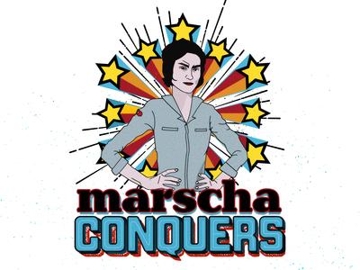 Marscha Conquers logo