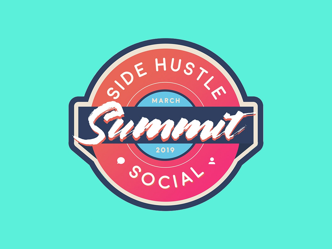 Side Hustle Summit Logotype vector branding design illustration