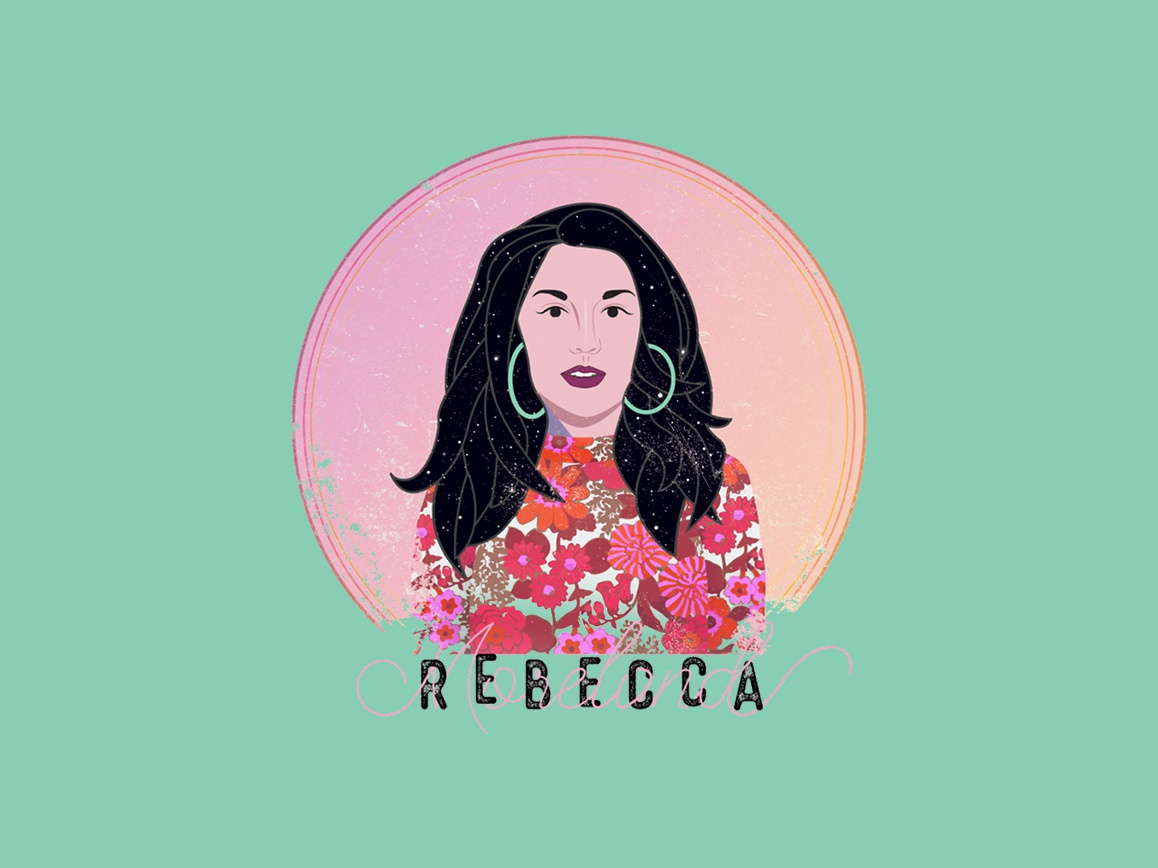 Rebecca Moreland T-Shirt Design 2 artist nashville artist musician band branding band logo cartoon vector design illustration