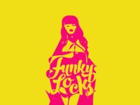 Funky Locks conceptual logotype