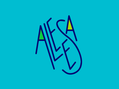Aleesa logotype ideation