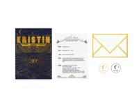 Kristin's 30th Birthday invitation suite