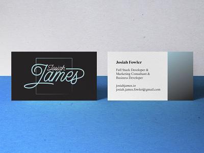 Josiah James Logo & Business Card print logo design branding business card