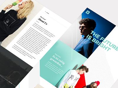 GermanGarment webdesign pastel about patterns shirts clothing web fashion