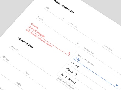 Registration Form webdesign error dropdown input fields registration google material form contact