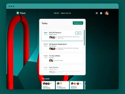 Daily UI · Google Meet Exploration · Option B