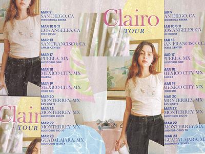Clairo Tour · Poster art direction clairo brutalism graphic design design flyers flyer artwork flyer design poster design poster art trendlist artwork