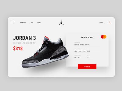 Checkout - #002DailyUI dailyui shoes store pay shoes payment jordan ecommerce design checkout web daily ux ui