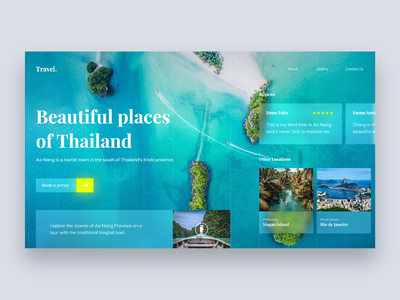 Landing Page - #003DailyUI beach vacation ocean thailand web jorney booking travel design landingpage blur dailyui ux ui daily