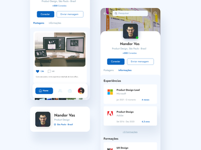 Profile - #006DailyUI 006 linkedin profile mobile app daily ux ui design dailyui