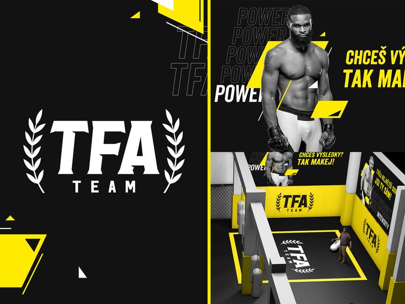 TFA Team - MMA Club Branding sport fitness fight muay thai mma logo branding